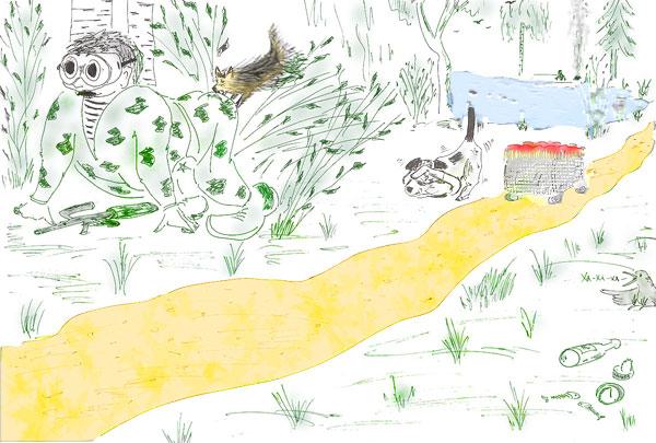иллюстрации папильотка